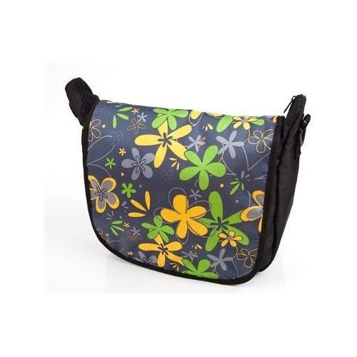 Baby Joy přebalovací taška LUX na kočárek černá/žlutý květ
