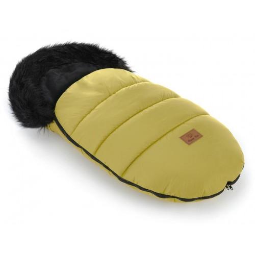 Zimní fusak HappyBee Trinity SPORT s kožíškem Yellow