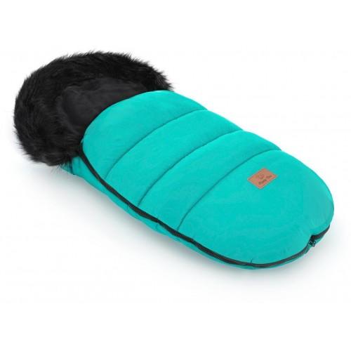 Zimní fusak HappyBee Trinity SPORT s kožíškem Turquoise