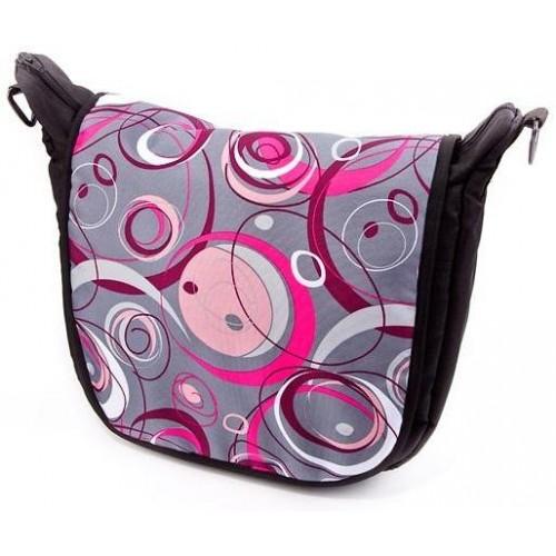Baby Joy přebalovací taška LUX na kočárek šedá/růžová kola