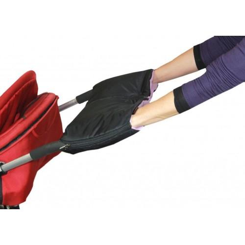 Emitex rukávník DUO 2v1, černý/lila