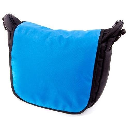 Baby Joy přebalovací taška LUX na kočárek černá/nebeská modř