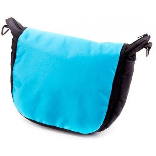 Baby Joy přebalovací taška LUX na kočárek černá/tyrkys