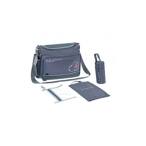 Fisher Price taška na kočárek s přebalovací podložkou Medvídek PÚ, šedá
