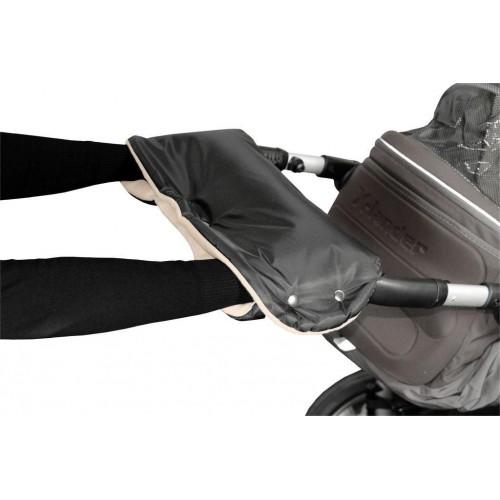Emitex rukávník ke kočárku, černý/béžový