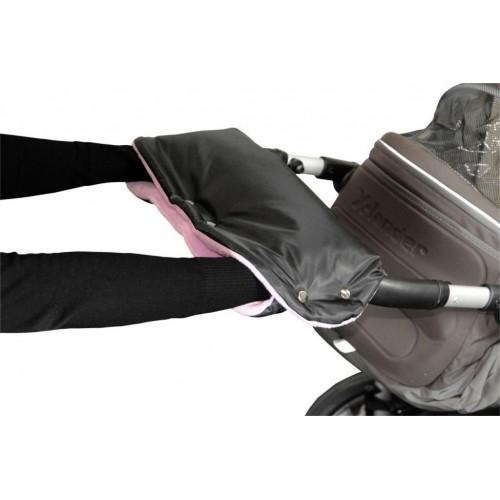Emitex rukávník ke kočárku, černý/lila