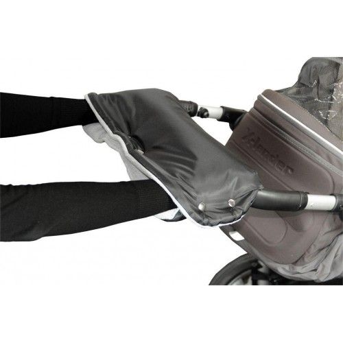 Emitex rukávník ke kočárku, černý/šedý