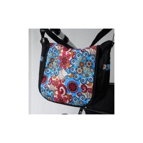 Taška na kočárek Nestor LUX, barevné květy