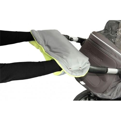 Emitex rukávník ke kočárku, šedý/limetka