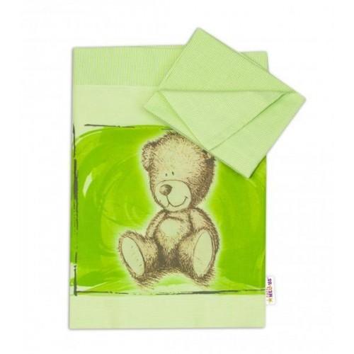 Baby Nellys 2-dílné povlečení do kolébky 90x80 cm, Sweet Dreams by Teddy - zelená