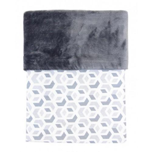 Emitex deka MIMI 3D kostka šedá/Velvet šedý