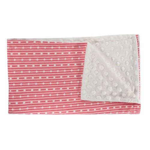 Mamatti Dětská deka, dečka Love Girl, 75x90 - Minky/bavlna, červená, minky - bílá