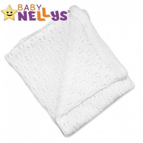 Baby Nellys Háčkovaná dečka, 80x90cm - bílá