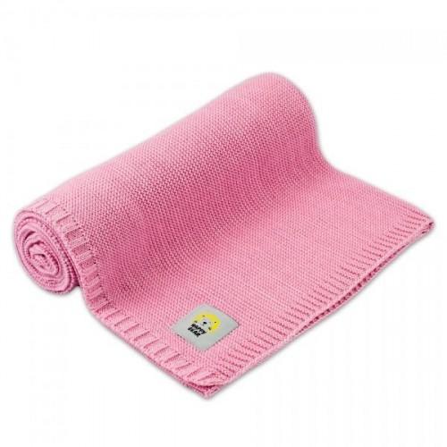 Dětská bambusovo - bavlněná deka, dečka MBaby - Happy Bear, růžová