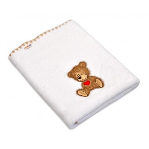 Dečka Colar Baby Nellys ® Sweet dreams by TEDDY 80x100cm - bílá