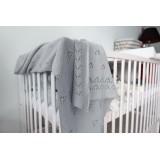 Dětská akrylová deka, dečka Baby Nellys, 90 x 90 cm - jemný vzor - šedá