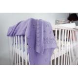 Dětská akrylová deka, dečka Baby Nellys, 90 x 90 cm - jemný vzor - lila