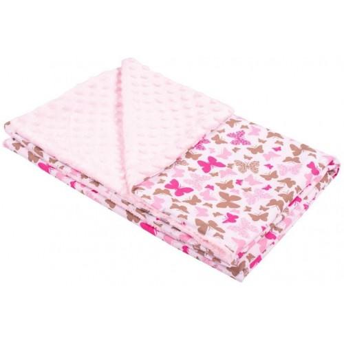 Dětská deka z Minky New Baby růžová 80x102 cm