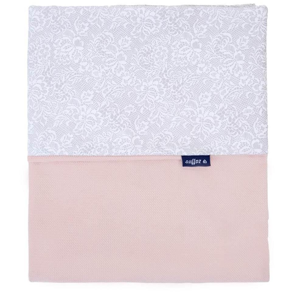 Dětská oboustranná deka Velvet Womar 75x100 šedo-lososová