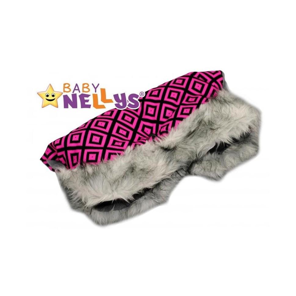 Rukávník ke kočárku s kožešinkou Baby Nellys ® flees
