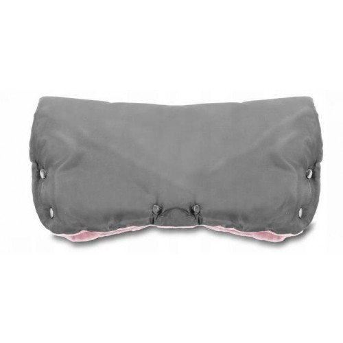 ICE BABY Rukávník ke kočárku fleece - šedý/růžový