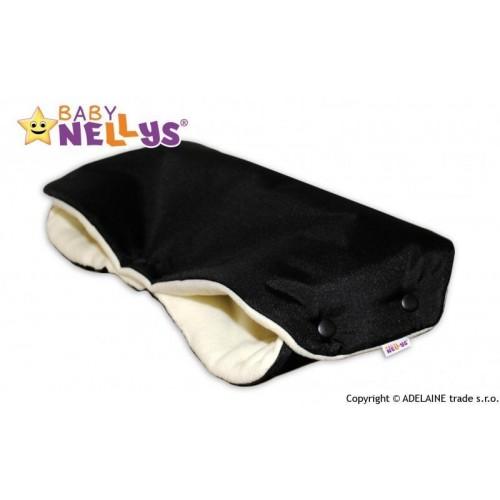Rukávník ke kočárku Baby Nellys ® flees - černý/smetana