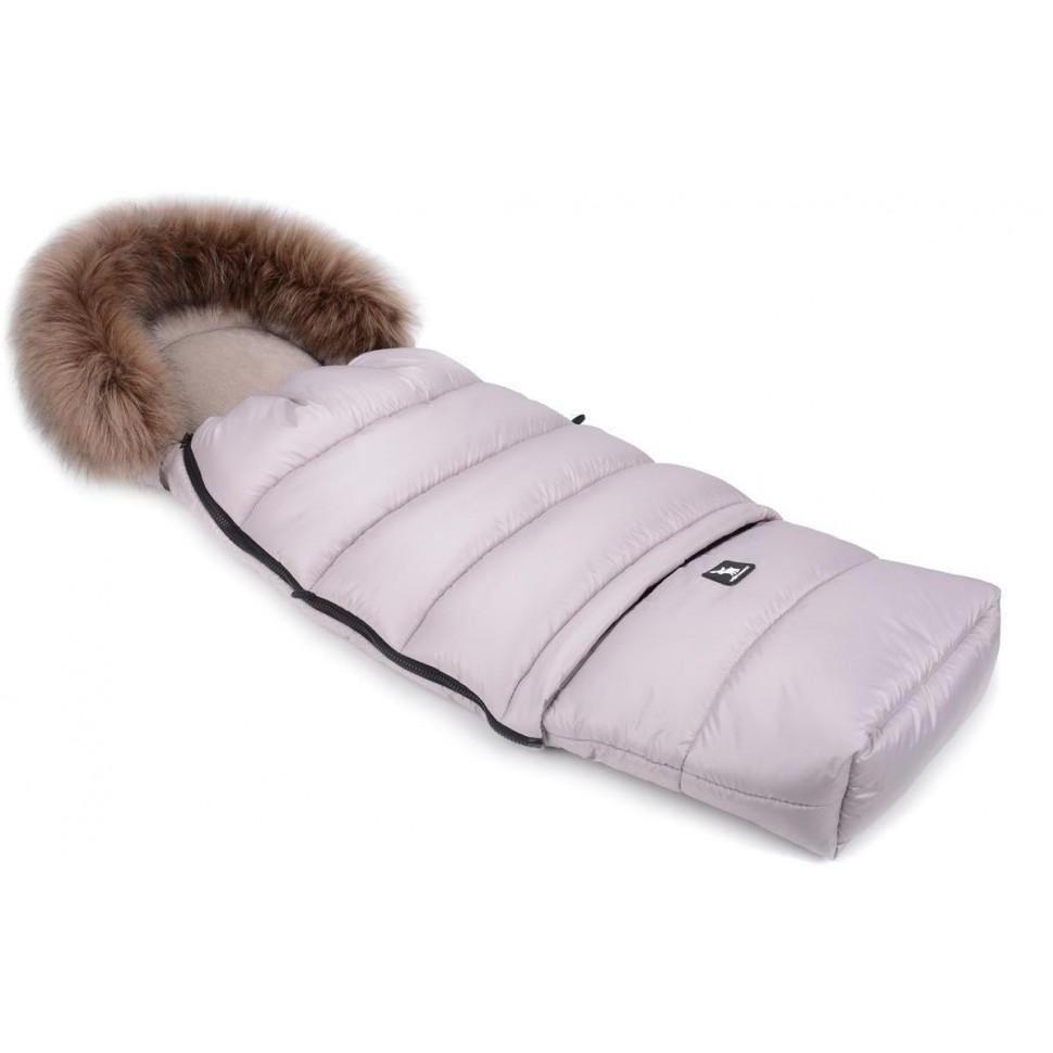 Zimní fusak Cottonmoose Combi s kožíškem Latte