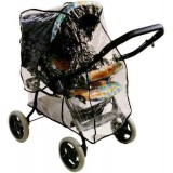 Emitex pláštěnka SPORT ABC na kočárek Graco, Quinny, Maxi Cosi, BabyPoint, Cam, Baby Jogger, černá