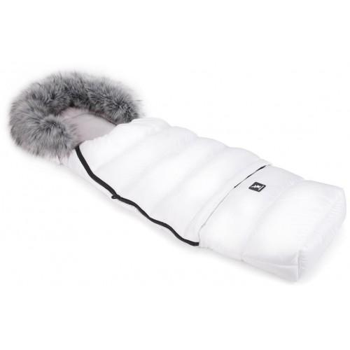 Zimní fusak Cottonmoose Combi s kožíškem White