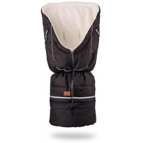 HappyBee zimní fusak Yetti 3v1 fleece černá