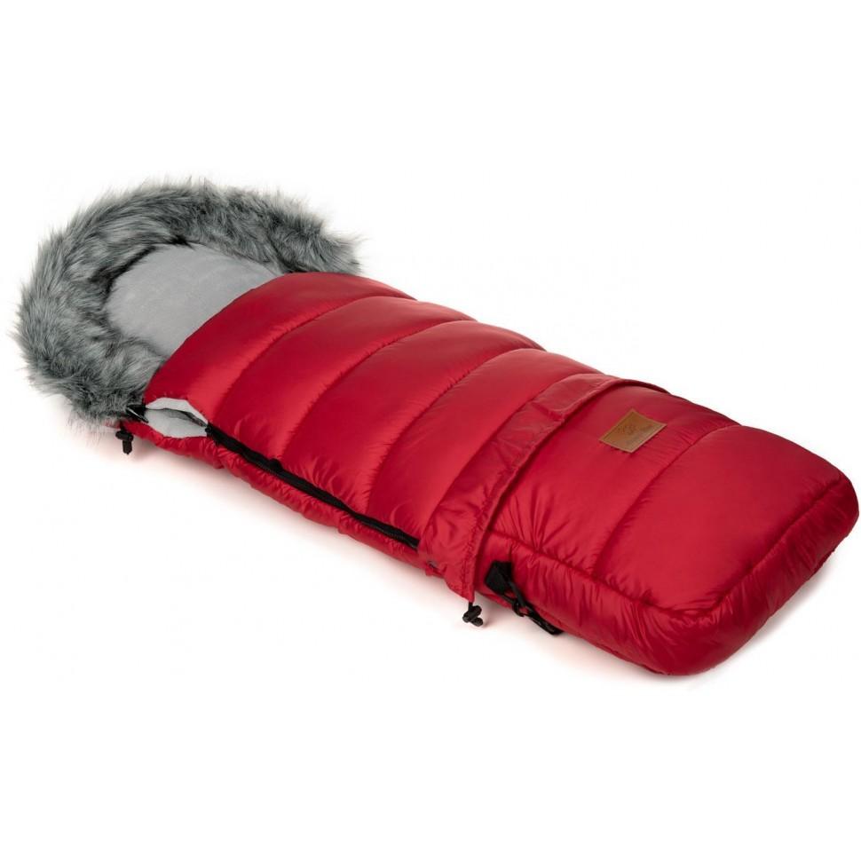Zimní fusak HappyBee Combi s kožíškem Red/Grey