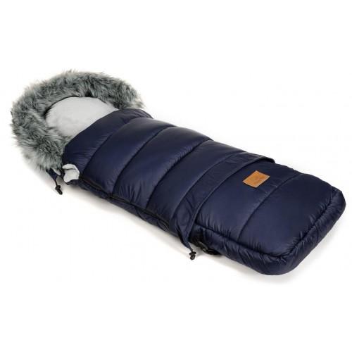 Zimní fusak HappyBee Combi s kožíškem Blue/Grey