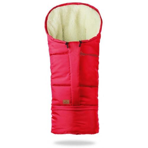 HappyBee zimní fusak Mumi 3v1 ovčí rouno červená