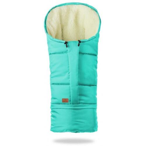 HappyBee zimní fusak Mumi 3v1 ovčí rouno tyrkys
