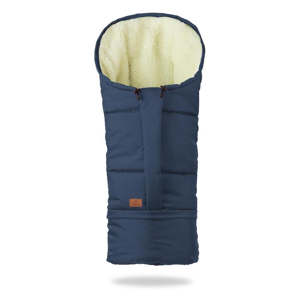 HappyBee zimní fusak Mumi 3v1 ovčí rouno tmavě modrá