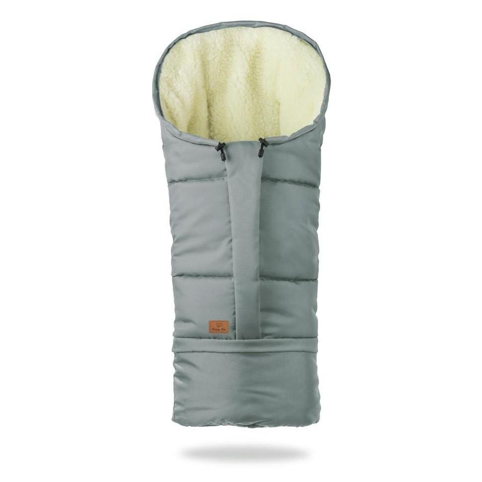 HappyBee zimní fusak Mumi 3v1 ovčí rouno šedá