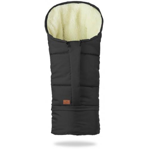 HappyBee zimní fusak Mumi 3v1 ovčí rouno černá