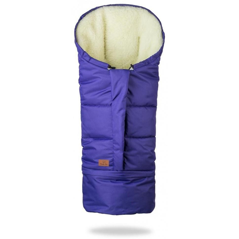 HappyBee zimní fusak Mumi 3v1 ovčí rouno fialová