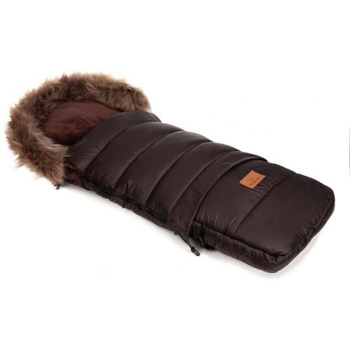 Zimní fusak HappyBee Combi s kožíškem Brown/Brown