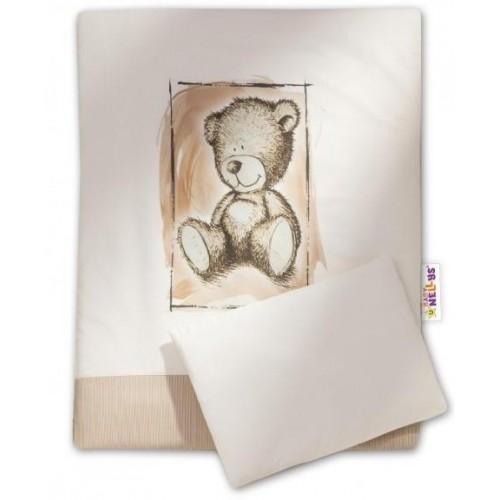 Baby Nellys Sada do kočárku komplet Sweet Dreams by Teddy - písek