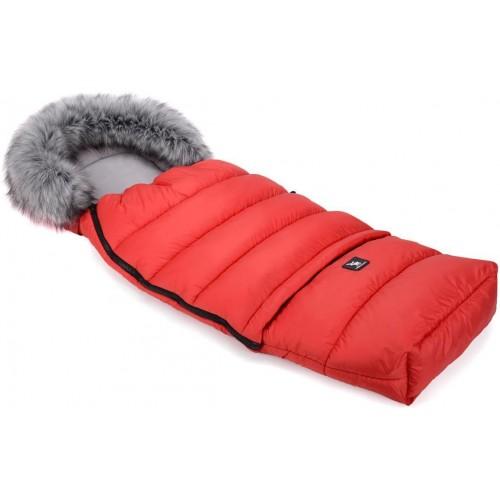 Zimní fusak Cottonmoose Combi s kožíškem Red