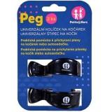 Kolíček Peg na kočár Black 2ks Petite&Mars