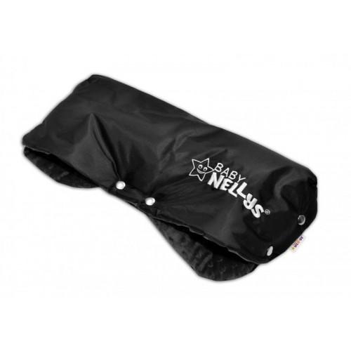 Rukávník ke kočárku Baby Nellys ® minky - černá/černý
