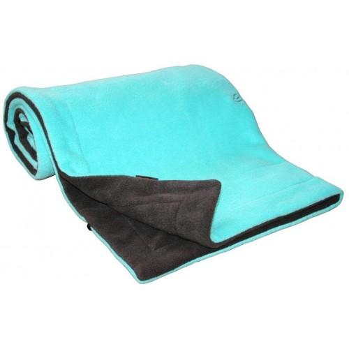 Emitex deka 70x100 cm fleece, antracit/aqua