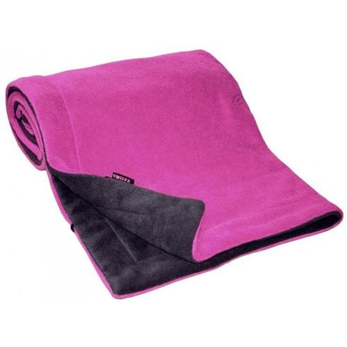 Emitex deka 70x100 cm fleece, antracit/fuchsie