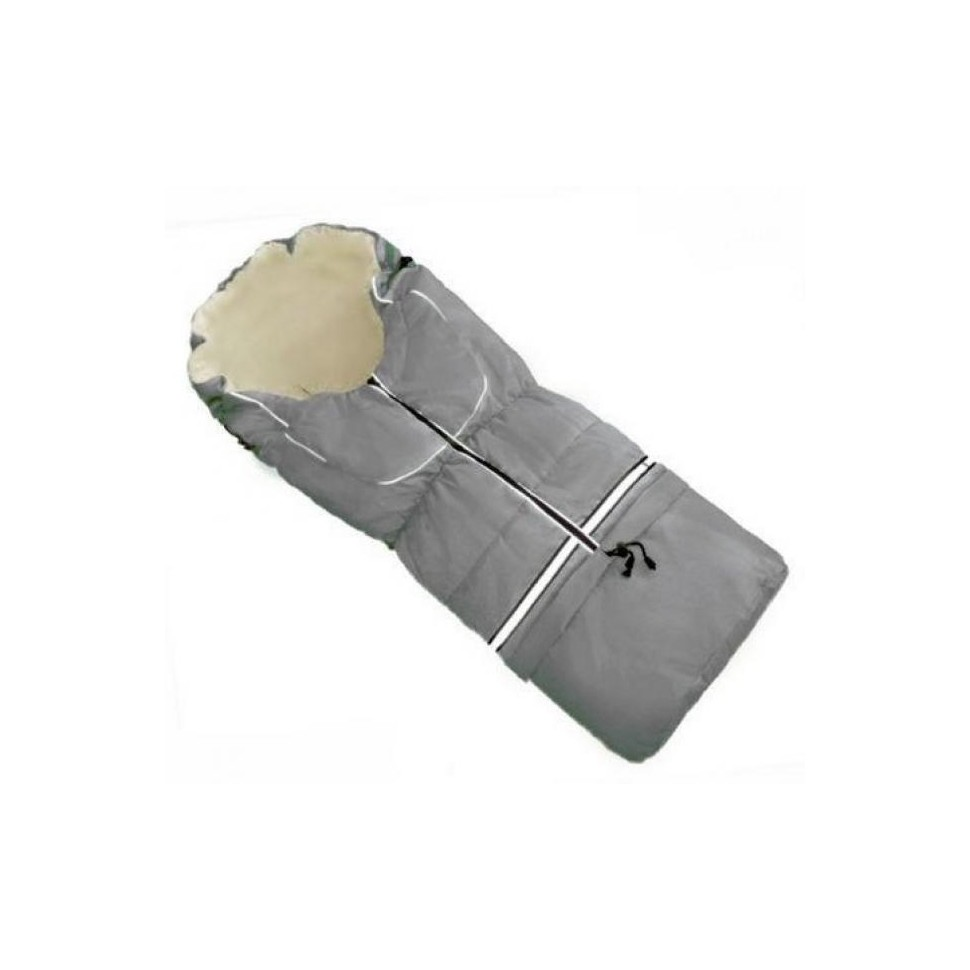 HappyBee zimní fusak Yetti 3v1 fleece světle šedá