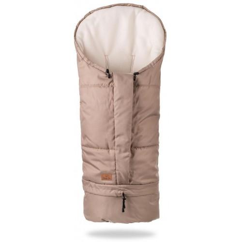 HappyBee zimní fusak  Mumi 3v1 fleece béžová
