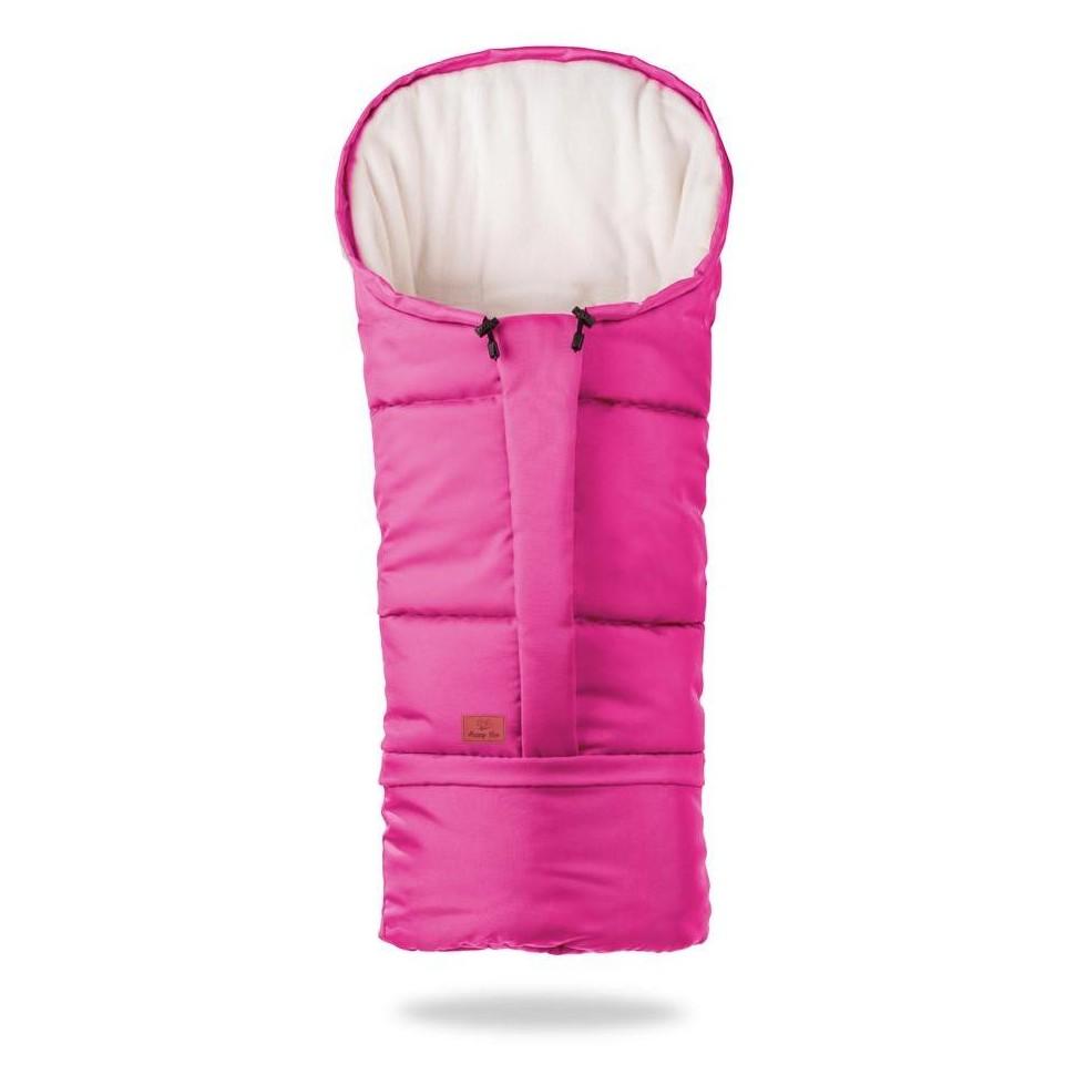 HappyBee zimní fusak  Mumi 3v1 fleece růžová