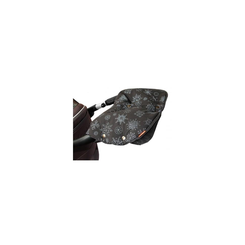 Emitex rukávník DUO 2v1 VLOČKA, černý