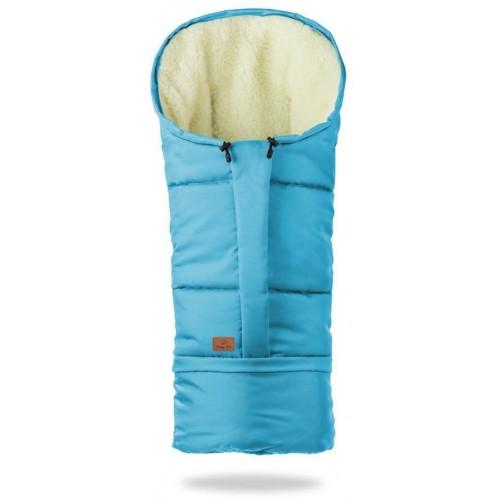 HappyBee zimní fusak Mumi 3v1 ovčí rouno tmavě modrá švestková